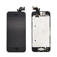 Noir Pour iPhone 5 5G COMPLET ÉCRAN LCD CHASSIS VITRE TACTILE BOUTON HOME CAMÉRA