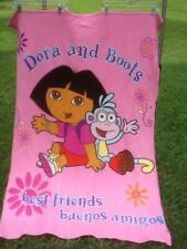 Adorable Pink DORA & BOOTS Girls Throw Blanket pre-owned CUTE MUST HAVE
