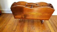 Vintage Wooden 7 Slot Multi-Purpose Magazine Rack with Removable Insert
