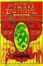 MINT & SIGNED Kinks Taj Mahal 1969 BG 204 ORIGINAL Fillmore Poster