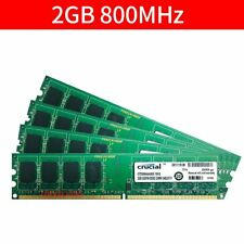 For Crucial 8GB 4x 2GB 1GB PC2-6400U DDR2 800MHz 1.8V PC Memory Desktop RAM CA