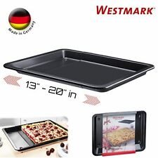 Westmark German Extendable High Quality Steel Non-Stick Baking Pan (Dark Gray)