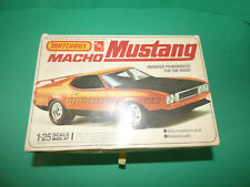 VINTAGE MATCHBOX MACHO MUSTANG 1-25 SCALE MODEL KIT VERY RARE NEW OLD STOCK!