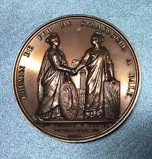 CHEMIN de FER de STRASBOURG a BALE - LOUIS PHILIPPE 1841 BARRE - MEDAILLE BRONZE