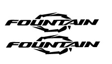 "PAIR OF 5""X28"" FOUNTAIN BOAT HULL DECALS. MARINE GRADE.YOUR COLOR CHOICE 103"