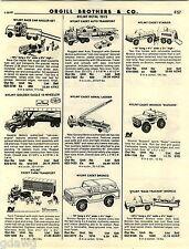 1982 ADVERT Nylint Toy Race Car Hauler Cadet Bronco Bass Tracker Bulldozer Chevy