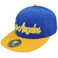 HAT CAP GORRA CHAPEU LOS ANGELES SNAPBACK ACADEMY FITS FLAT BILL BLUE YELLOW
