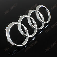 For Audi Rings Chrome Grill Front Hood A3 A4 S4 A5 S5 A6 S6 SQ7 TT Badge Emblem
