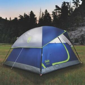 Coleman 2000034548 9 Foot x 7 Foot 4 Person Sundome Weathertec Tent, Blue