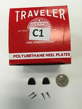 6 pair SHOE REPAIR HEEL Protector PLATES  TAPS  C1 SMALL womens traveler + nails