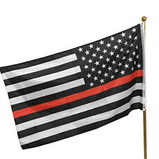New listing Thin Red Line Usa American Flag Firefighters 3x5 Ft Banner Flag Decor Hot Go9
