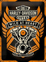 Nostalgic Art Harley-Davidson WILD AT HEART Blechschild 30 x 40