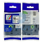 """2X Black on White Tape TZ-241 Compatible for Brother TZe241 P-Touch 3/4"""" 18mm 8m"""