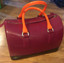 FURLA CANDY PINK JELLY/RUBBER SATCHEL SPEEDY DOCTOR PURSE PLASTIC BAG