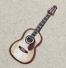 Acoustic Guitar - Natural Musical Instrument Iron on Applique/Embroidered Patch