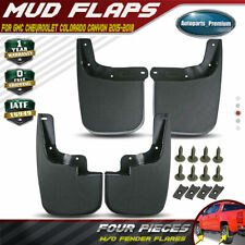 4x Splash Guards Mud Flaps for Chevy Colorado Canyon 2015-2019 w/o Fender Flares