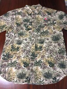 Game Guard Desert Shirt Mens Size L Regular Short Sleeve W/logo 🌵567