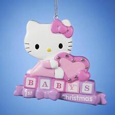 Hello Kitty Baby's 1st Christmas Tree Ornament, Kurt S. Adler, New in Box!