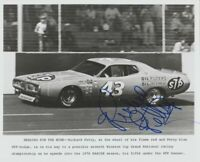1976 Richard Petty signed STP Dodge Charger NASCAR Winston Cup 8x10 Press Photo