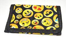 NEW Yellow and black emoji mens wallet 12x9cm boys accessories