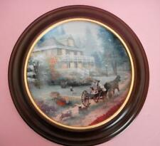 Thomas Kincaid A Carriage Ride Home Third Edition Plate with Frame