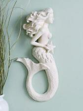"16"" Resin Mermaid Star Fish Wall Plaque Beach Bath Decor New!"
