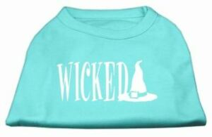Wicked Screen Print Dog Cat Pet Puppy Halloween Shirt