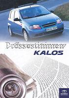 Daewoo Kalos Pressestimmen Prospekt 2003 brochure press reports Autoprospekt