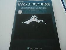 "OZZY OSBOURNE ""AN EXPLORATION OF HIS MUSIC"" LIBRO CON TABLATURE HAL LEONARD"