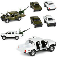 1:32 ABS Alloy Military Car for Hilux Pickup Truck Model DIY Children Toy Gifts