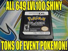 POKEMON BLACK AUTHENTIC All 649 SHINY GAME UNLOCKED EVENT POKEMON!