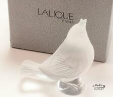 LALIQUE ROUGE GORGE CHANTEUR SINGING ROBIN BIRD CRYSTAL  FIGURINE PAPERWEIGHT