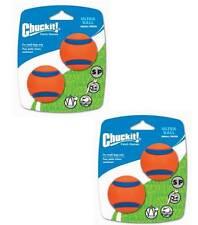 Chuckit Ultra Ball Dog 2 x 2 Pack Small ball 4.8cm High Bounce Toy (4 Balls)