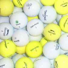 Value Branded Lake Golf Balls - White & Yellow Mix - 50 or 100 Balls
