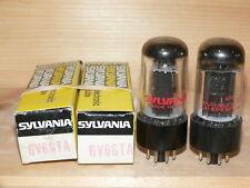 2 NIB Sylvania 6V6GTA Tubes (USA) Closely matched plate current