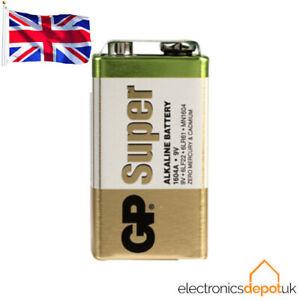 (2 PACK) GP Batteries - 9V PP3 Super Alkaline Battery - Long Lasting High Power