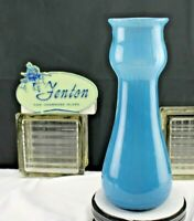 FENTON GLASS 2007 DAVE FETTY BLUE BUBBLE OPTIC VASE OOAK SIGNED