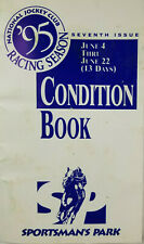 Sportsman Park 1995 National Jockey Club Horse Racing Condition Book Illinois