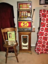 Vtg Bally E-873 Series E 5¢ 5-Line Fruit Slot Machine Golden Nugget Stand Manual