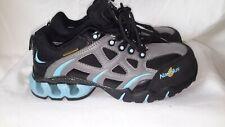Nautilus Women's Steel Toe Waterproof Athletic Work Shoe Grey / Black/blue 7 W