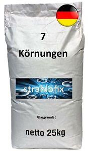 25 kg Strahlmittel Glasgranulat Glasbruch Strahlgut Sandstrahlen Strahlgranulat