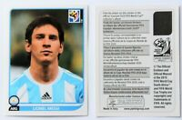 Panini WM 2010 - Sticker Messi Argentina - RARE version without number on back