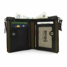 RFID NFC BLOCKING Mens Leather Wallet Credit Card Coin Pocket Wallets With Zip