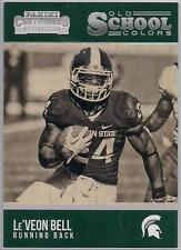 2016 Panini Contenders Old School Colors Le'Veon Bell #14 Michigan State/Steeler