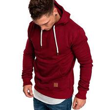 Men Outwear Jumper Hoodies Sweats Hooded Pullover Sweatshirt M-5XL Plus Size