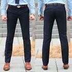 New Men Fit Skinny Casual Pencil Dress Pants Business Straight Leg Suit Trousers