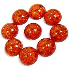 LOT 9 PC BALTIC AMBER 81.70 CTS ROUND SHAPE GLORIOUS CABOCHON GEMS_BEADS_INDIA
