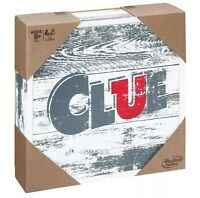 Clue Rustic Edition Series Hasbro Parker Brothers Rare New Wooden Box Board Game