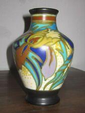 Art Deco Vase Gouda Holland birnenförmig am Hals eine rest. Stelle