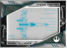 Star Wars Skywalker Saga 2019 ~ BLUEPRINT Insert BP-XW X-Wing Fighter #226/250